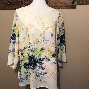 Rose & Olive Flowy Blouse